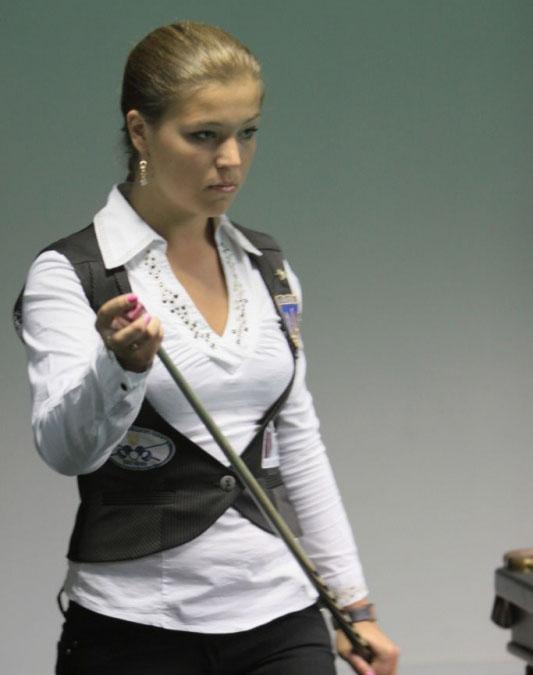 Анастасия Ковальчук - талантливая бильярдистка и просто красавица