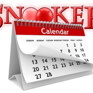 calendar snooker